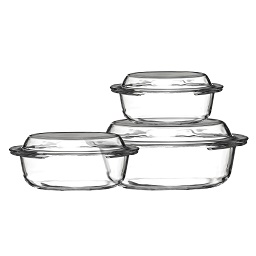 Casserole Glass Dishes - Set of 3