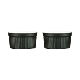 OvenLove Ramekins Set of 2 Made of Black Stoneware