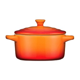OvenLove Casserole Dish with Lid - Orange- 230ml