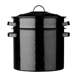 Pasta Pot Black Speckled Enamel/Lid