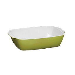 2.8L OvenLove Rectangular Baking Dish Lime Green Stoneware