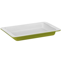 Ecocook Baking Dish Lime Green Carbon Steel White Ceramic