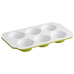 Ecocook Lime Green/White Muffin Tray Ceramic Coating