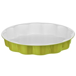 Ecocook Lime Green /White Flan Dish Ceramic Coating