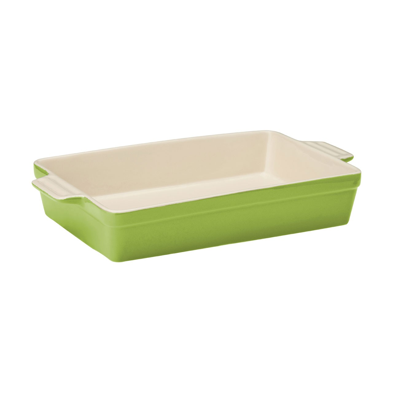 Casserole Dish Lime Green Stoneware 1.7ltr