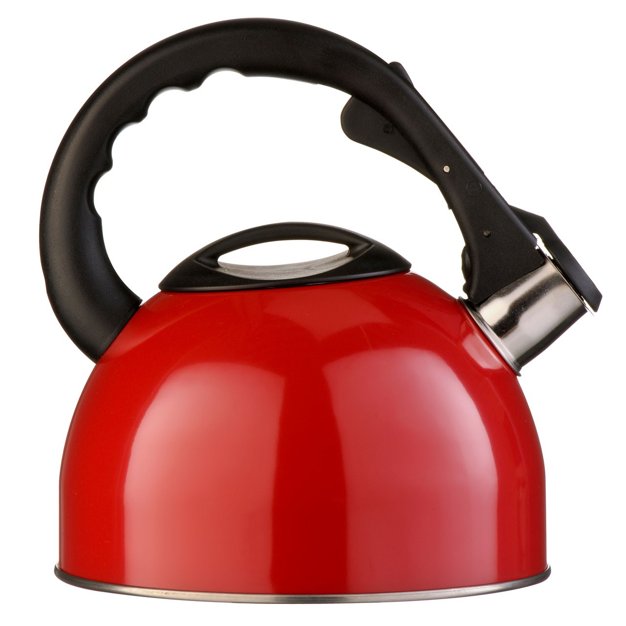Whistling Kettle 2.5Ltr Red And Made Of Stainless Steel