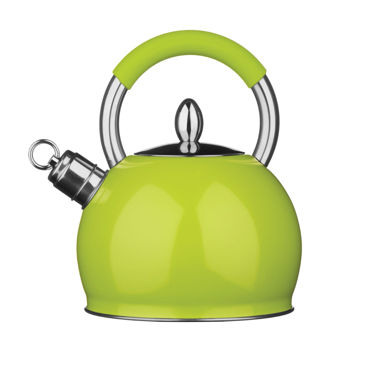 3 Litre Whistling Kettle - Lime Green and Stainless Steel