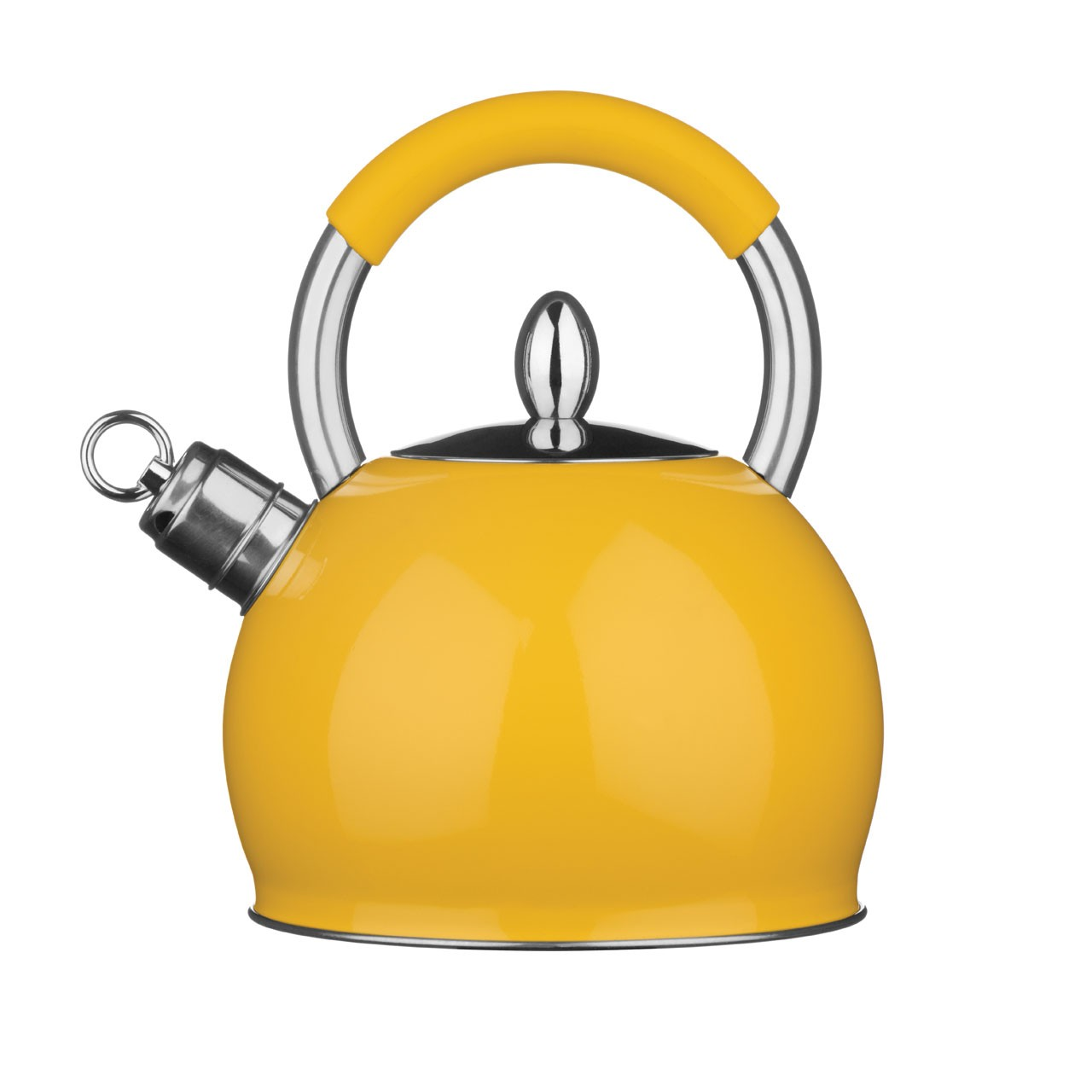 Whistling Kettle Stainless Steel 3 Ltr New Look Available in Dif