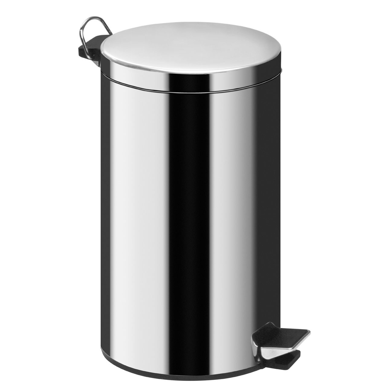 20Ltr Pedal Bin, Mirror Polished Stainless Steel