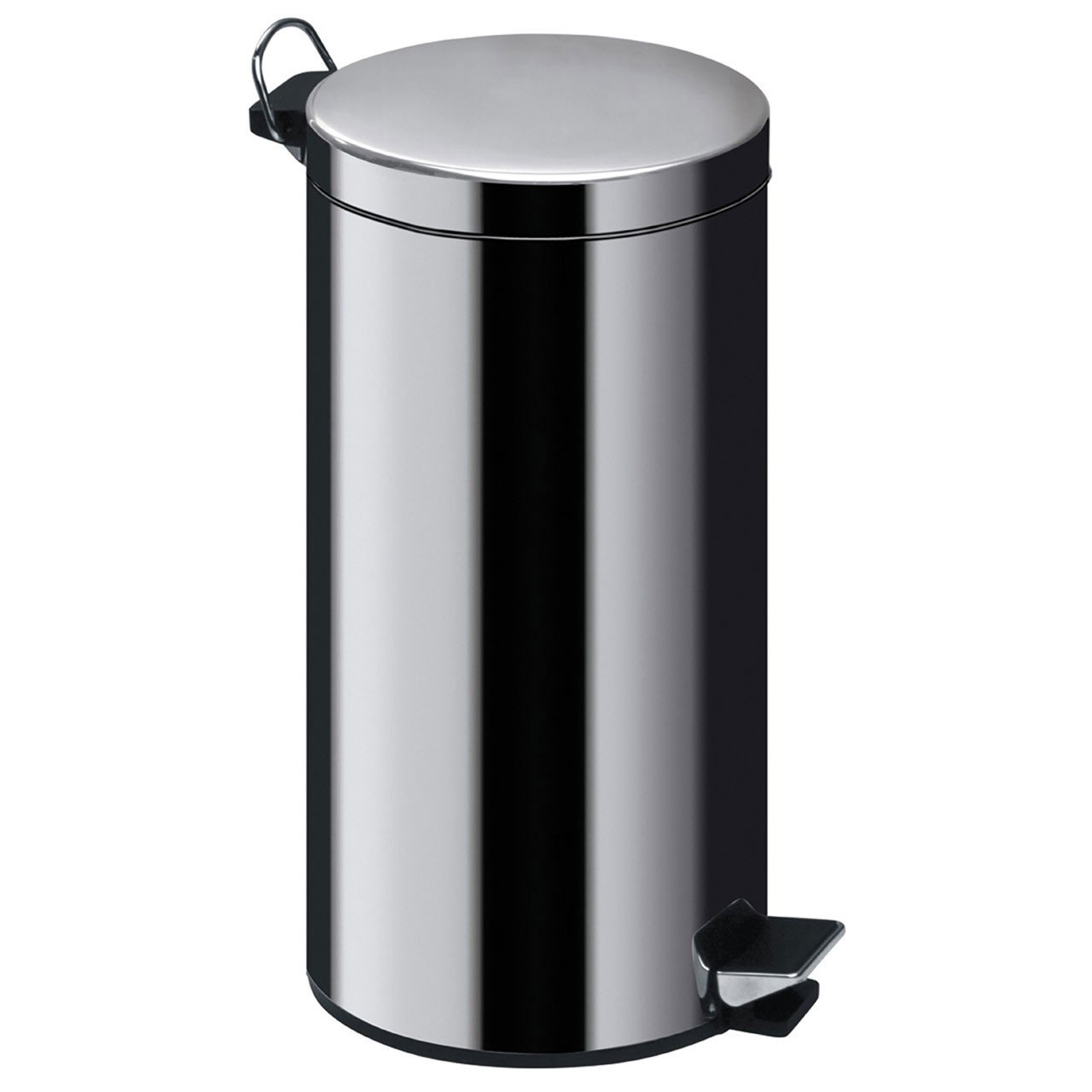 30Ltr Pedal Bin, Mirror Polished Stainless Steel