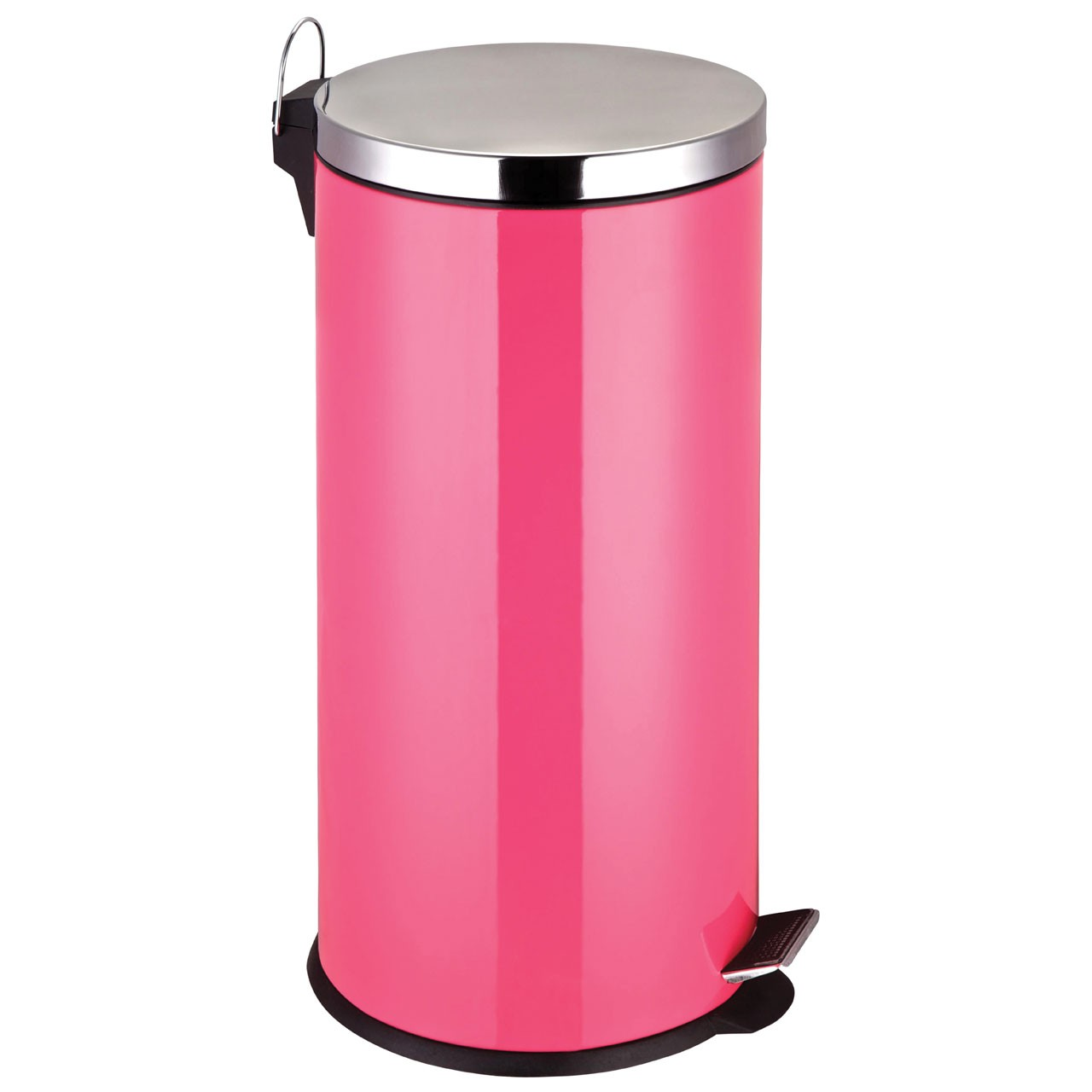 30 L Stainless Steel Pedal Bin - Hot Pink