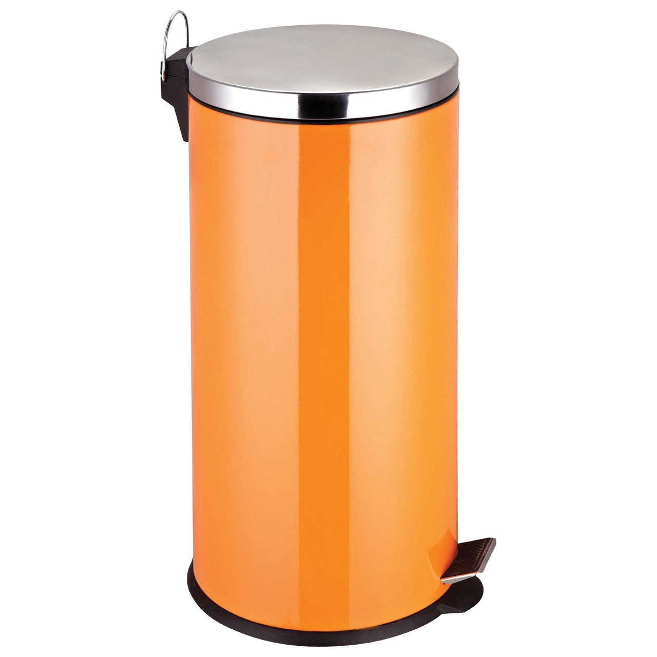 30 L Stainless Steel Pedal Bin - Orange
