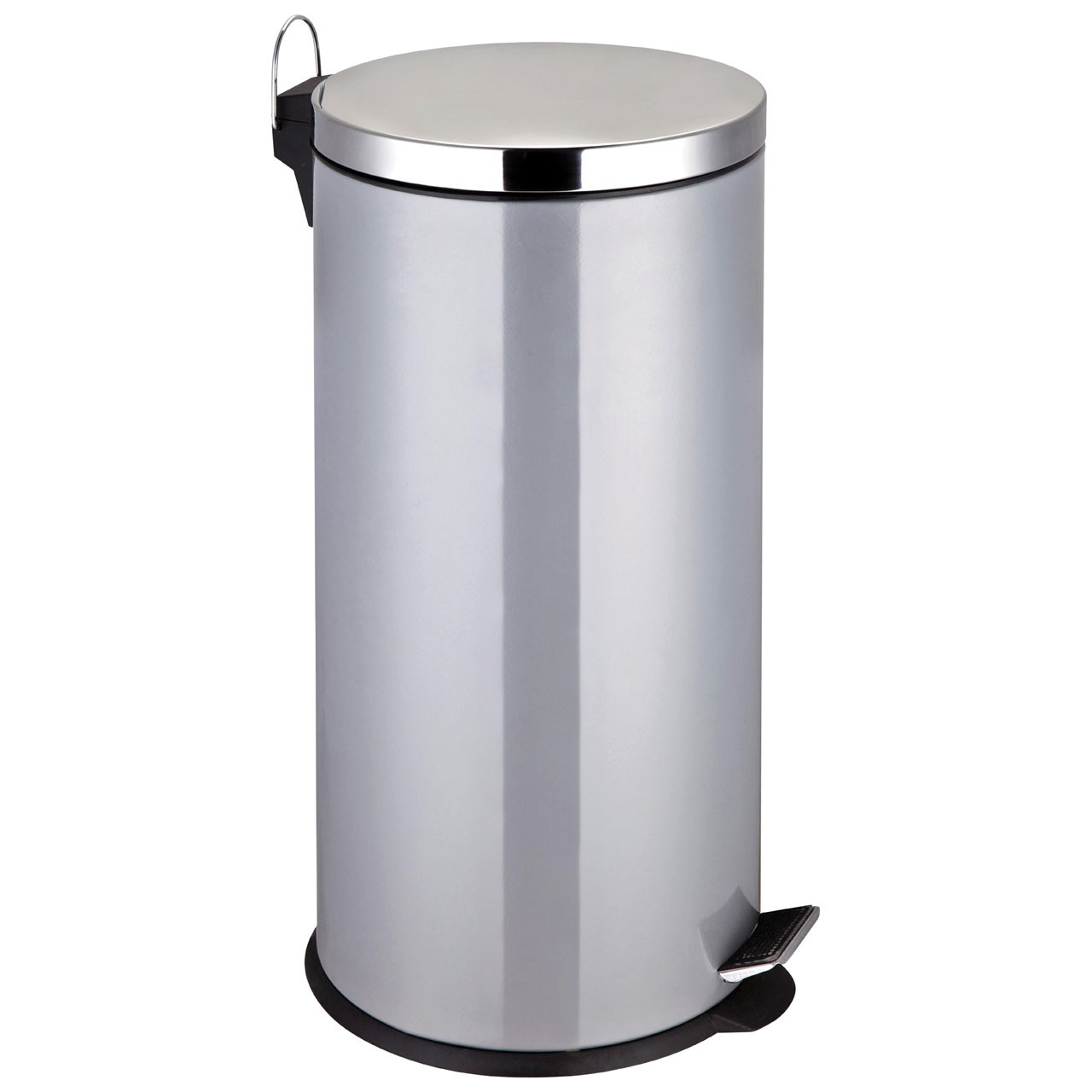 Prime Furnishing 30 Ltr Stainless Steel Pedal Bin - Silver
