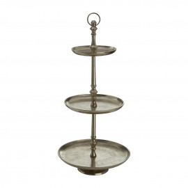 Complements Cake Stand 3 Tier Nickel Finish For Cake Parties