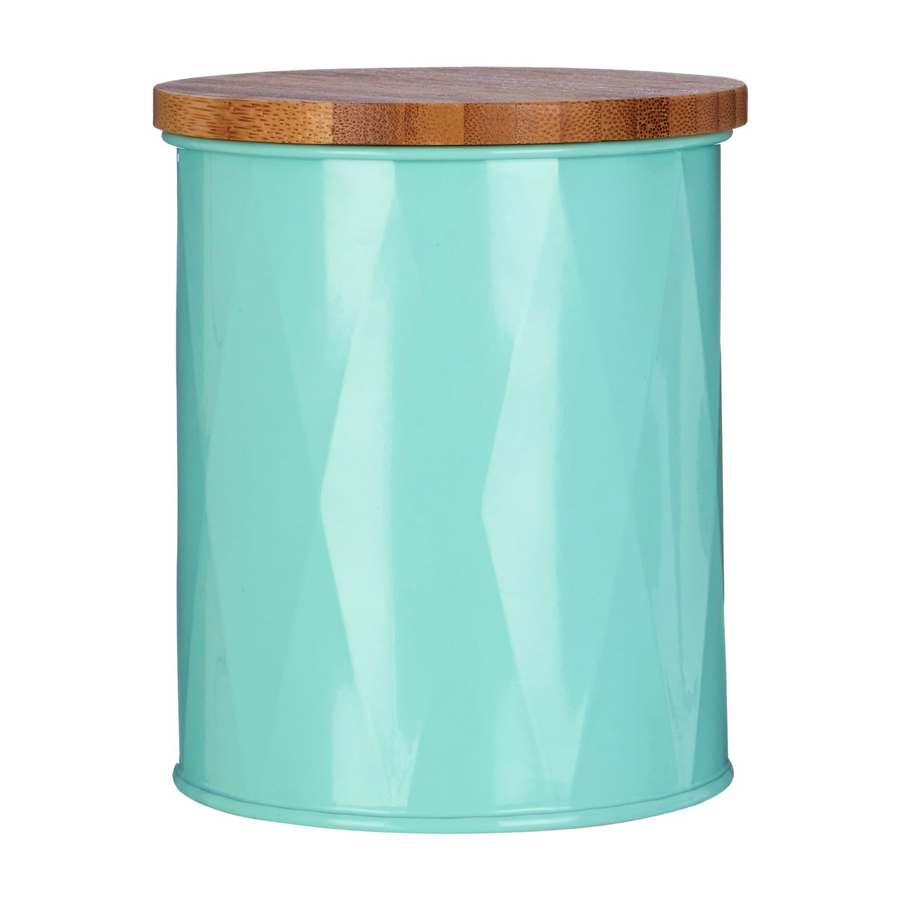 Prime Furnishing Rhombus Round Canister - Green - Set Of 3
