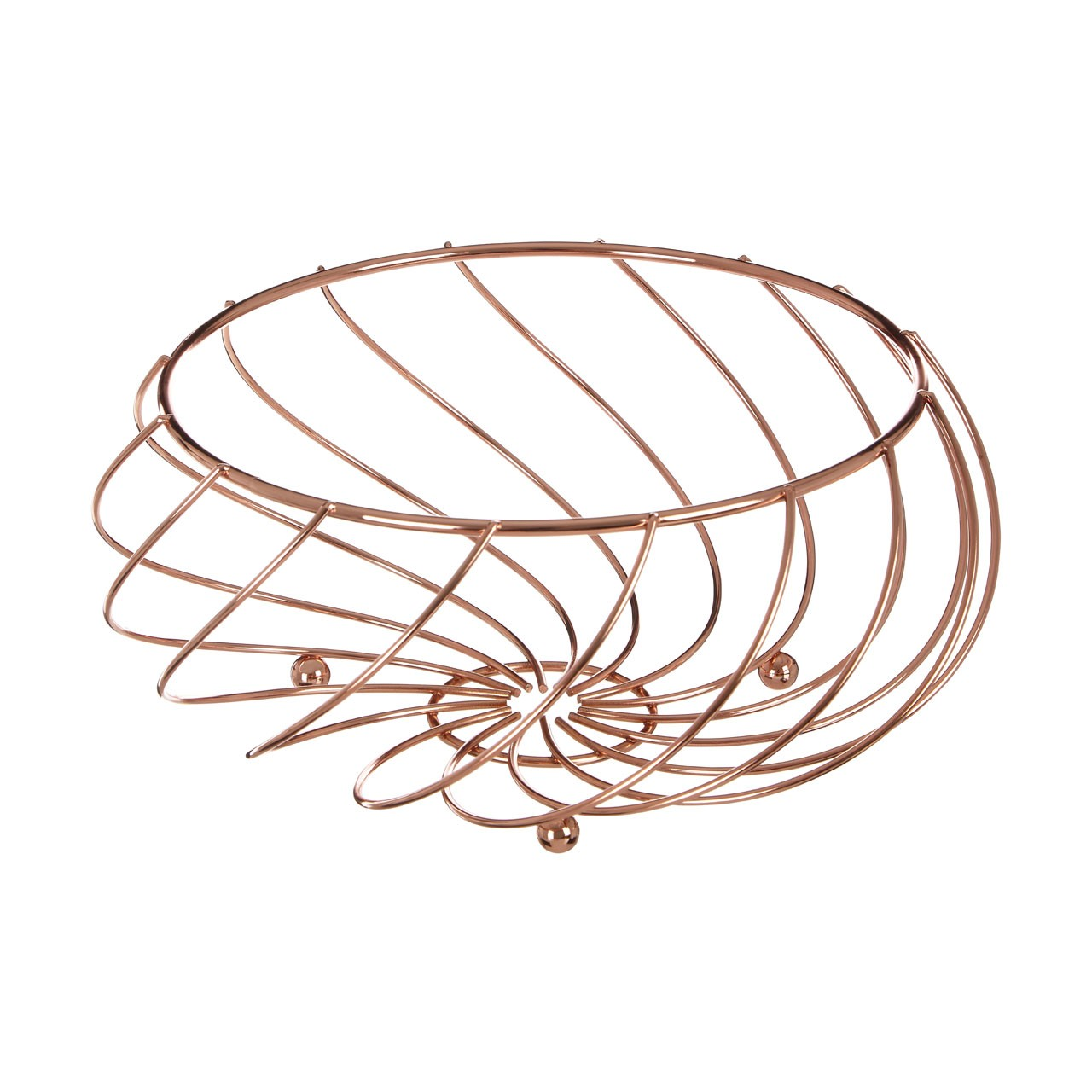 Kuper Fruit Basket - Rose Gold - Metal Wire