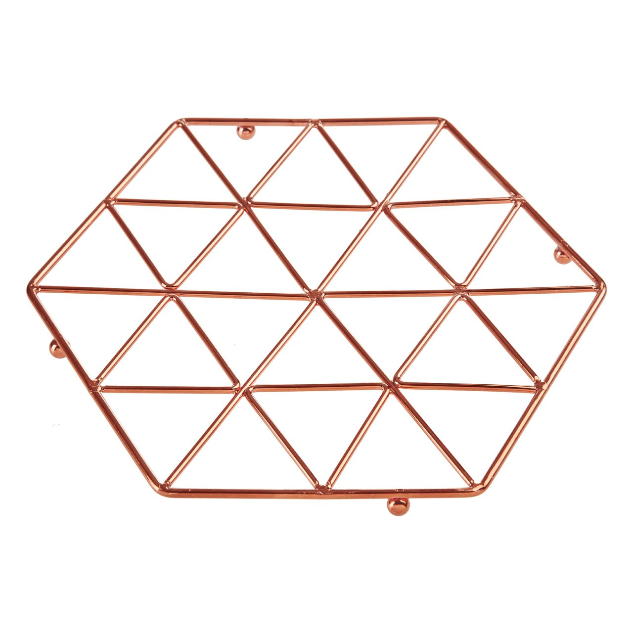 Vertex Trivet Copper Plated Iron Wire