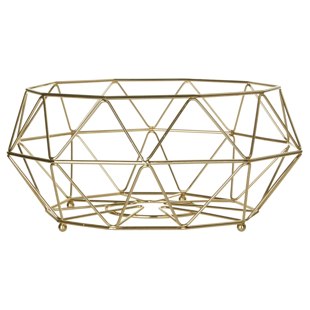 Prisma Fruit Basket Gold Plated Iron Wire