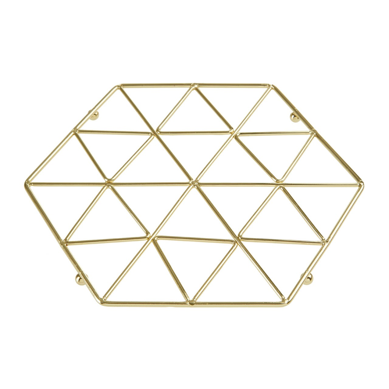 Vertex Trivet Gold Plated Iron Wire