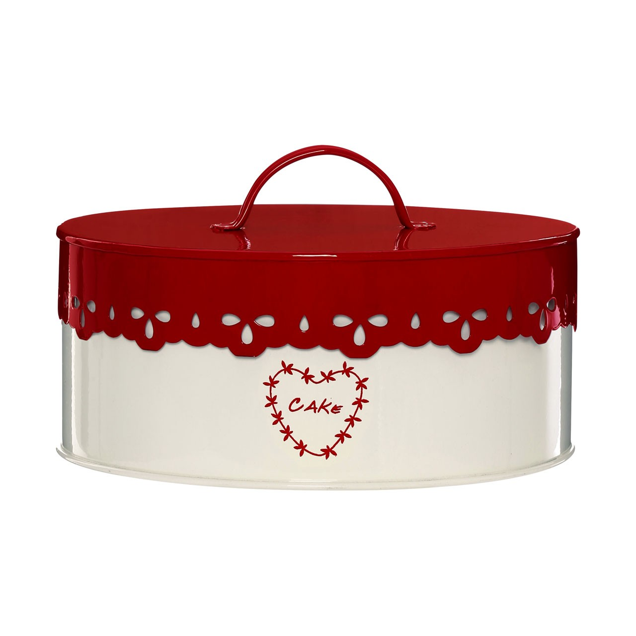 Anglaise Cake Tin Cream/Red