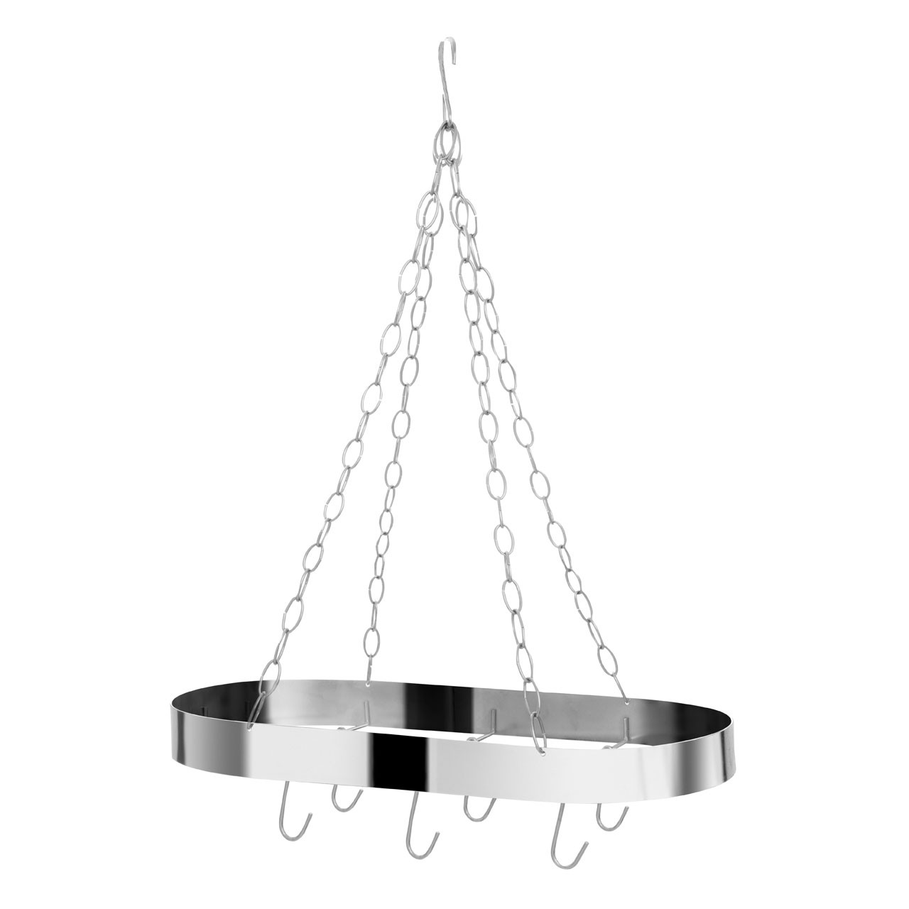 Oval Ceiling Rack Metal Matte Chrome