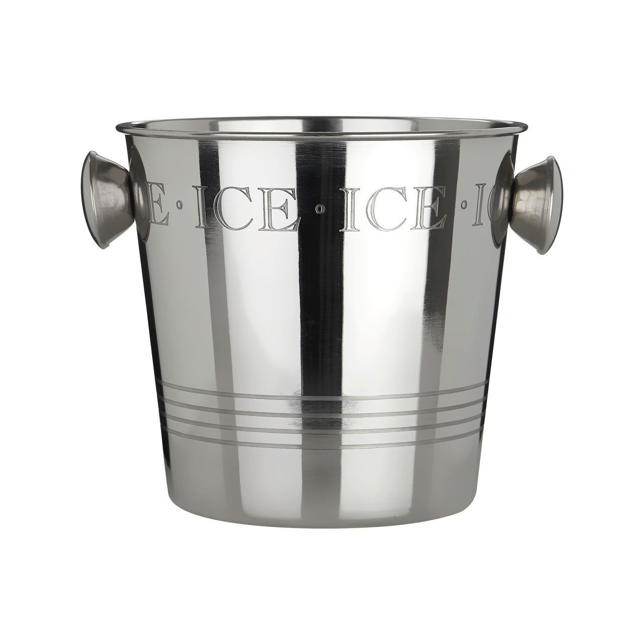 Bombay Ice Bucket Stainless Steel Handles