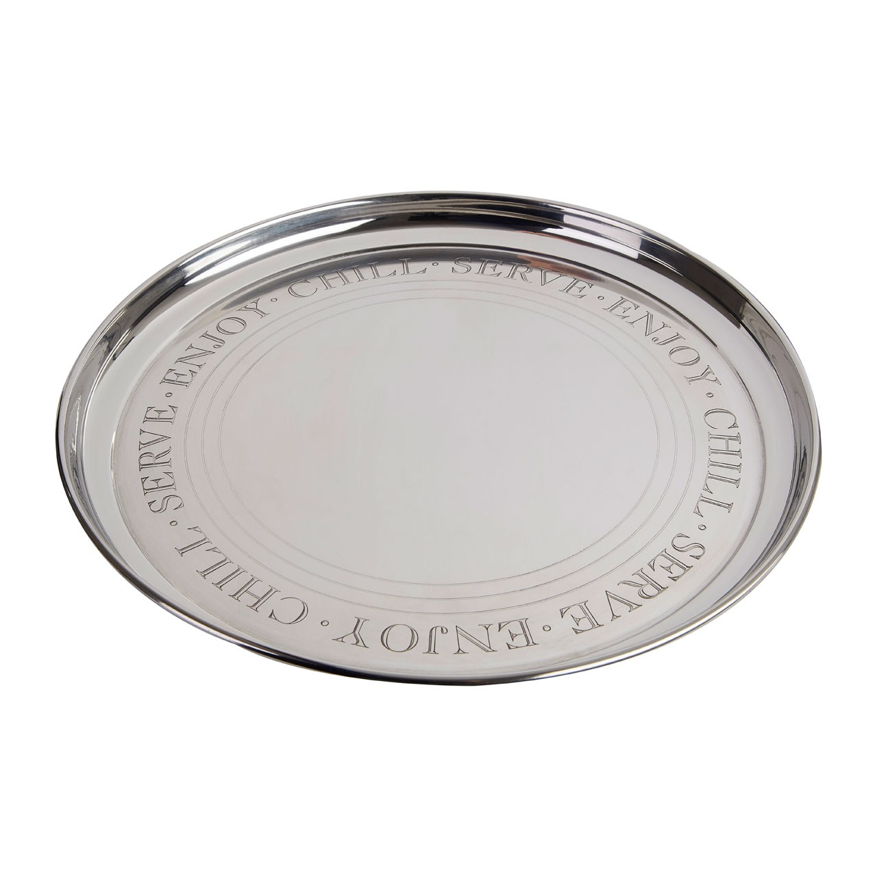 Bombay Serving Tray Stainless Steel Round