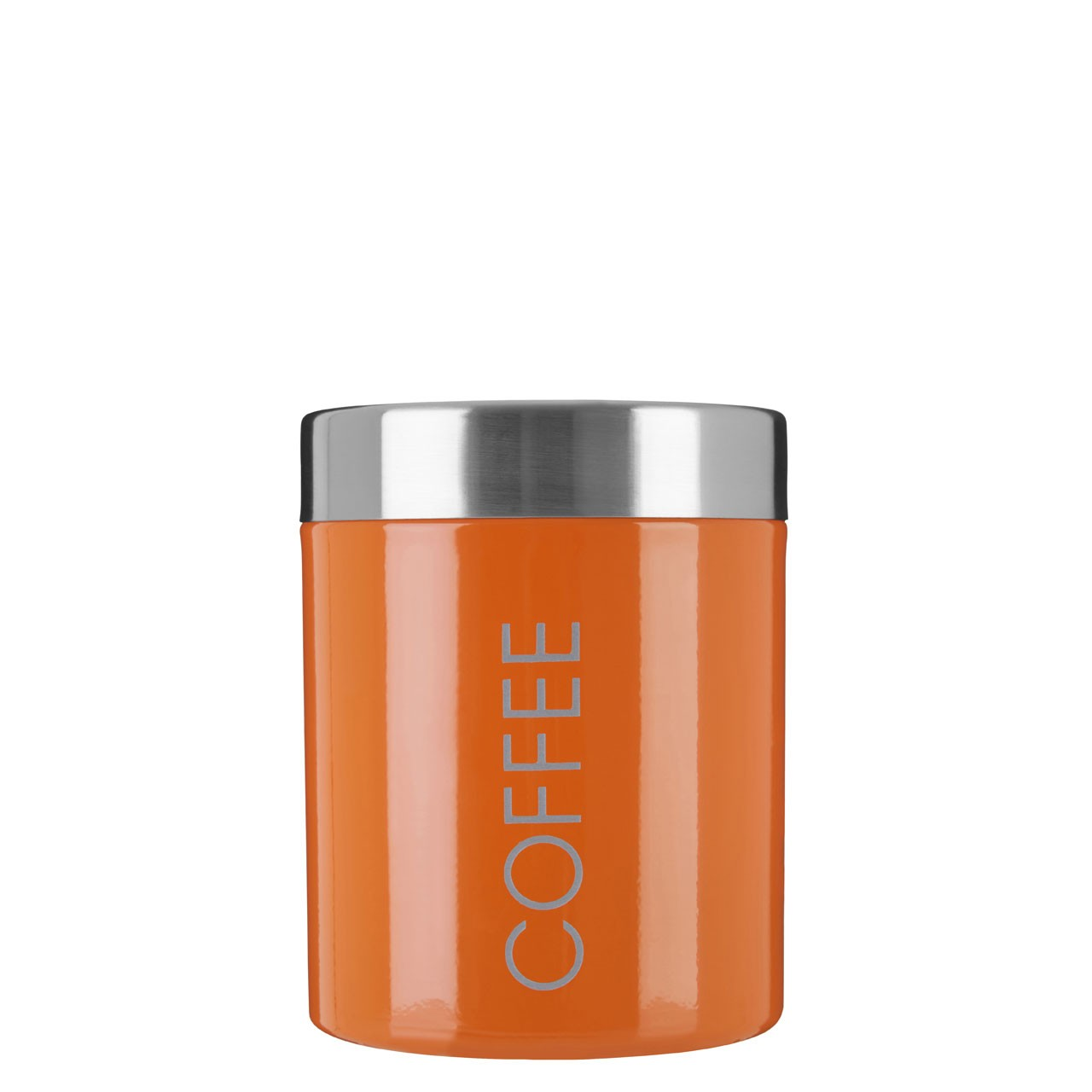 Coffee Canister Orange Enamel