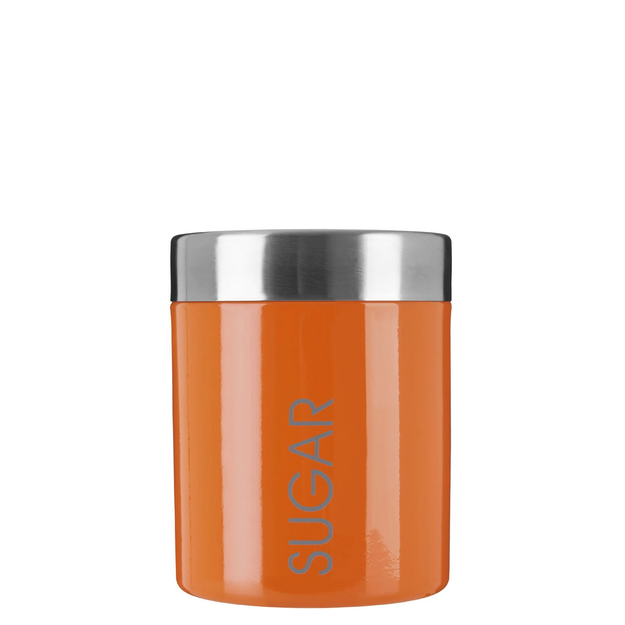 Sugar Canister Orange Enamel