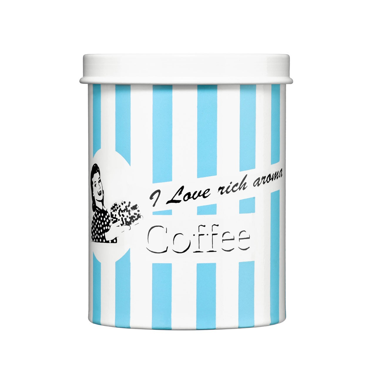 Candy Stripe Coffee Canister - Blue