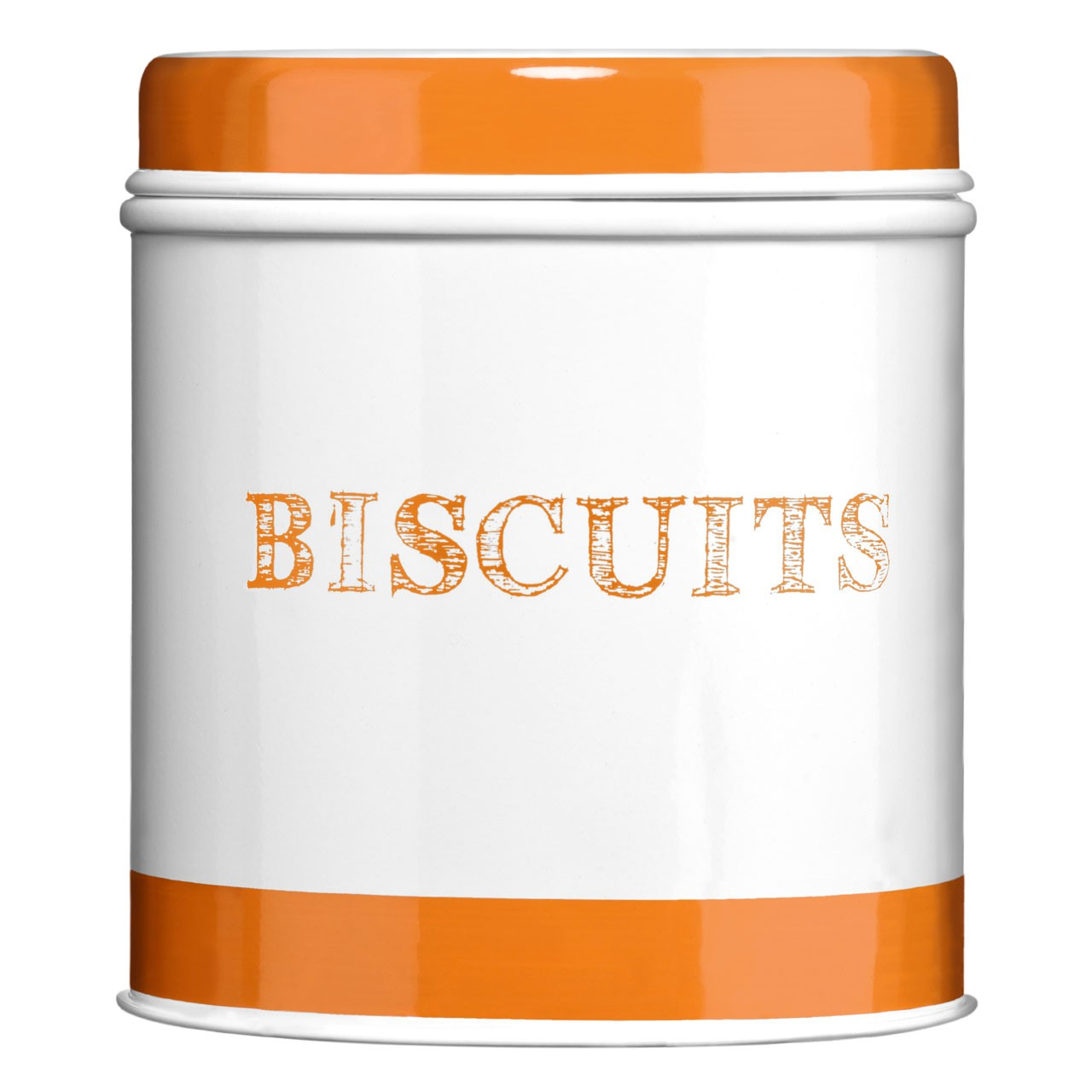 Band Biscuit Canister - Orange