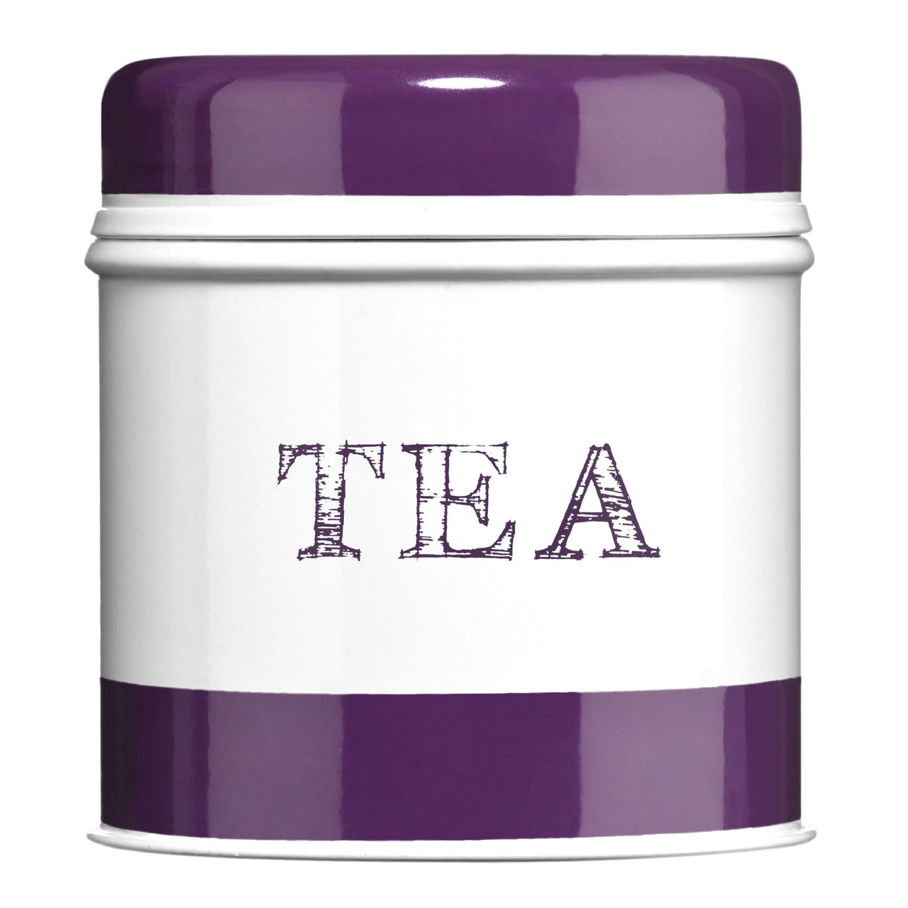 Band Tea Canister - Purple