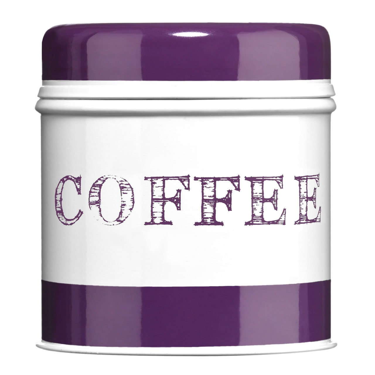 Band Coffee Canister - Purple