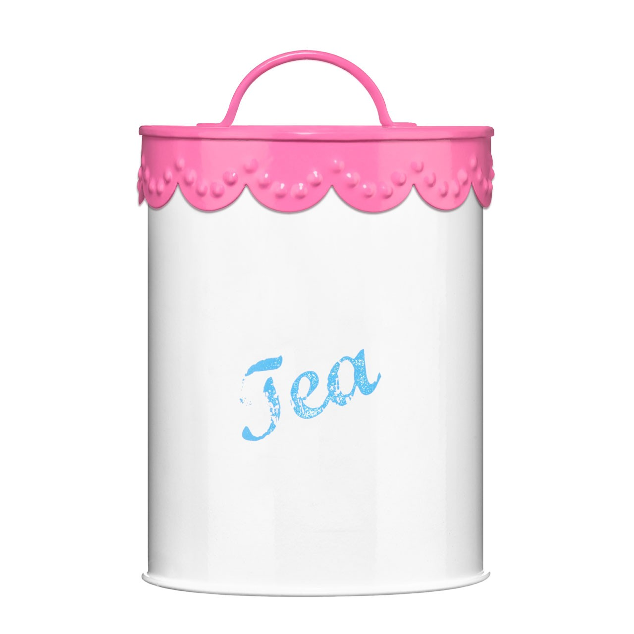 Tea Canister Pink Lace