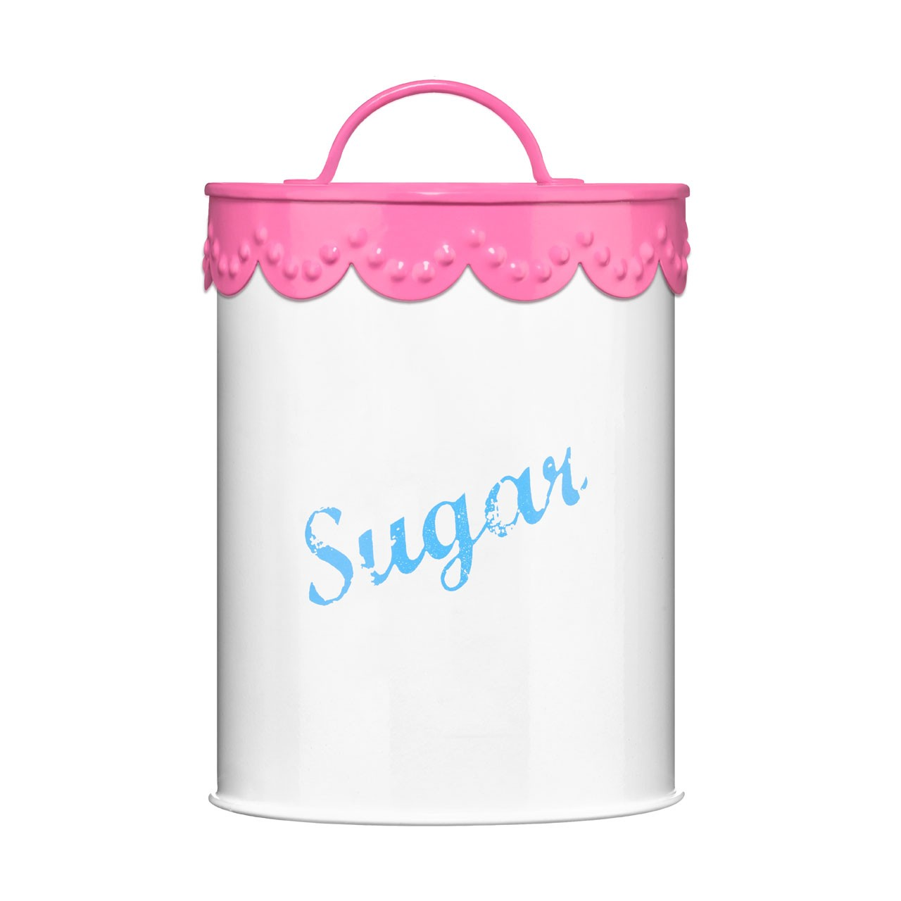 Sugar Canister Pink Lace