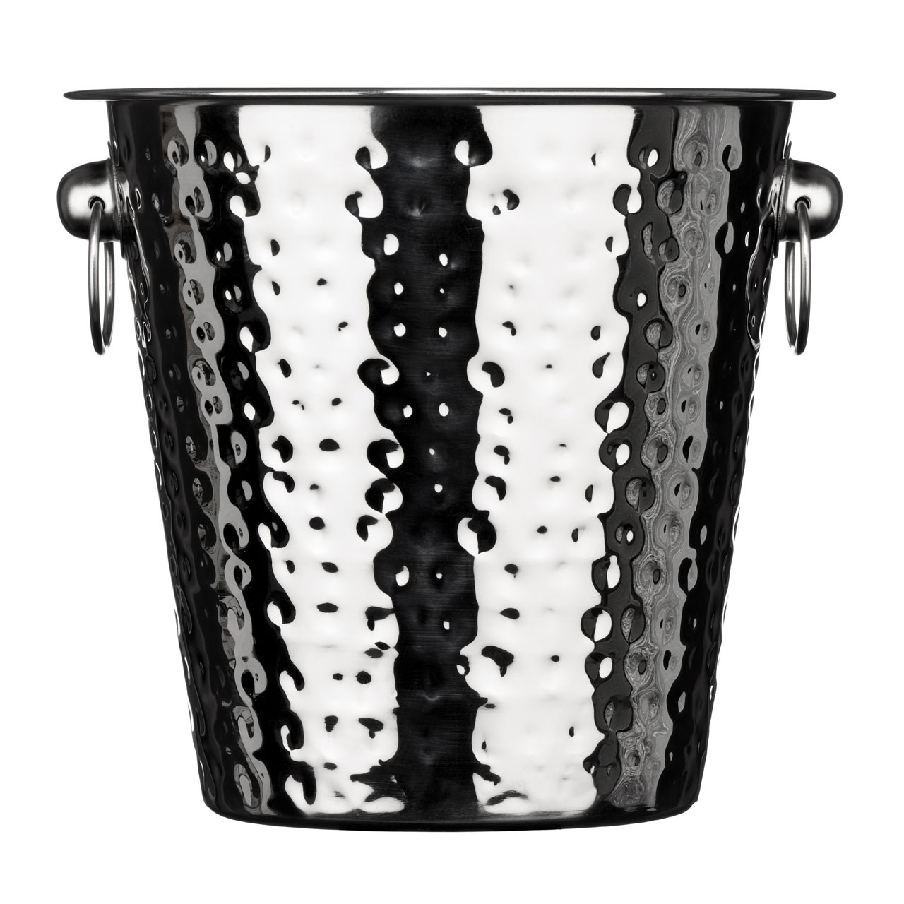 Champagne Bucket, Hammered Stainless Steel