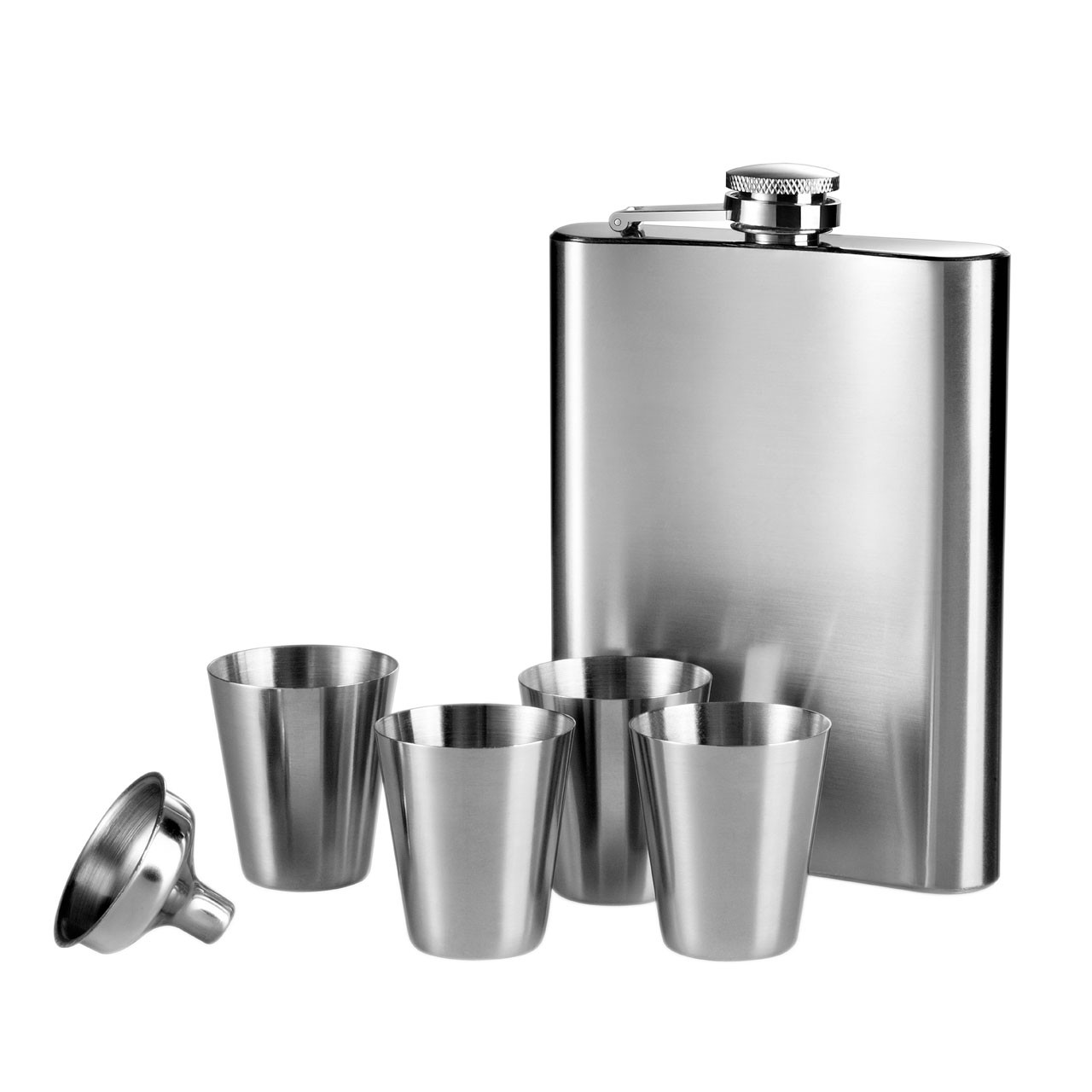 7oz Hip Flask (4xCups & Funnel) Set [Kitchen & Home]