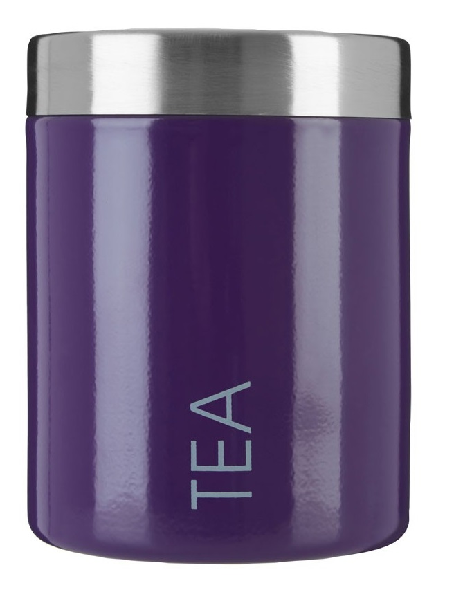 Tea Canister Stainless Steel lid - Purple