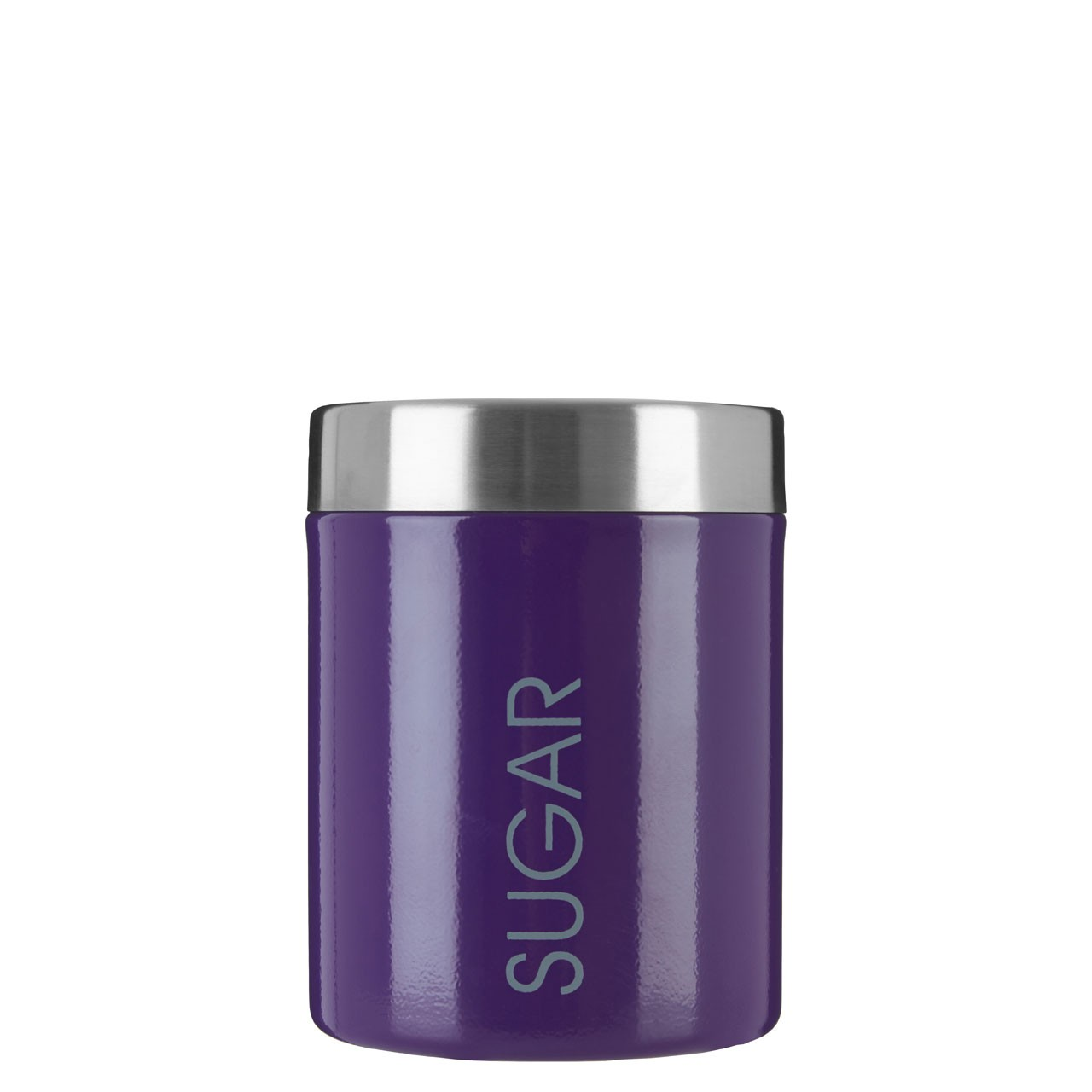 Sugar Canister Stainless Steel Lid - Purple