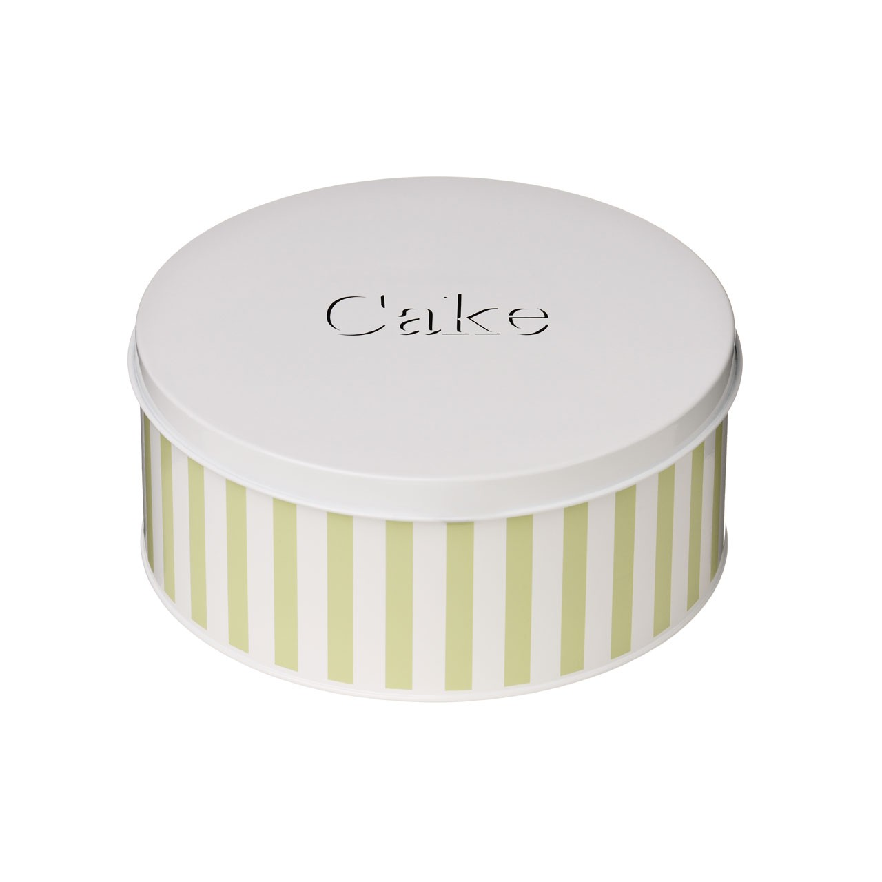 Candy Stripe Cake Tin - Lime Green