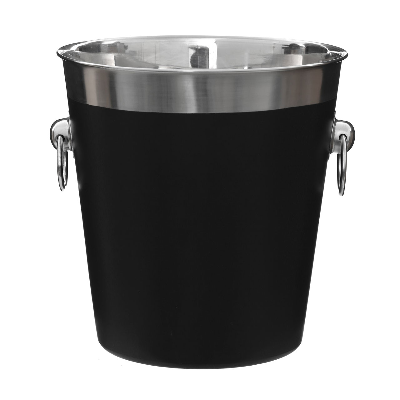 Prime Furnishing Champagne Bucket, Black Enamel