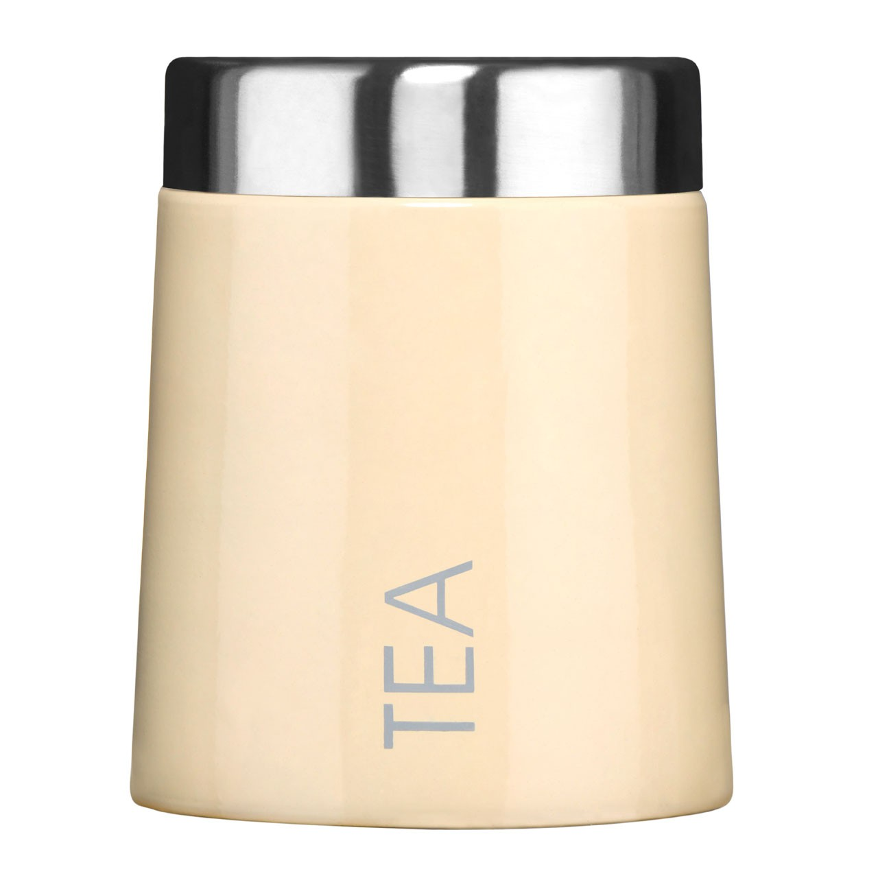 Premier Housewares Conical Tea Canister - Cream