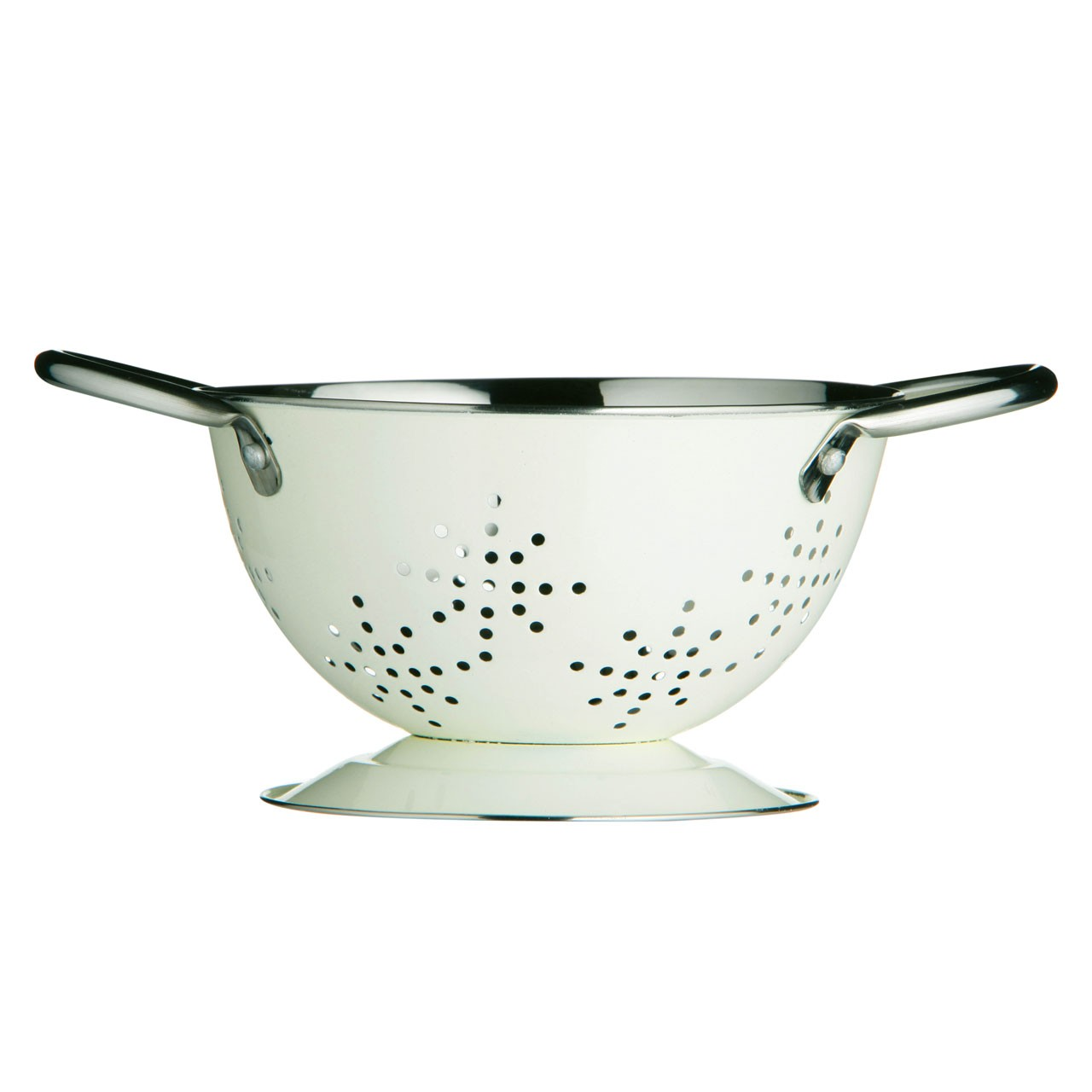 Mini Retro Colander Cream Enamel