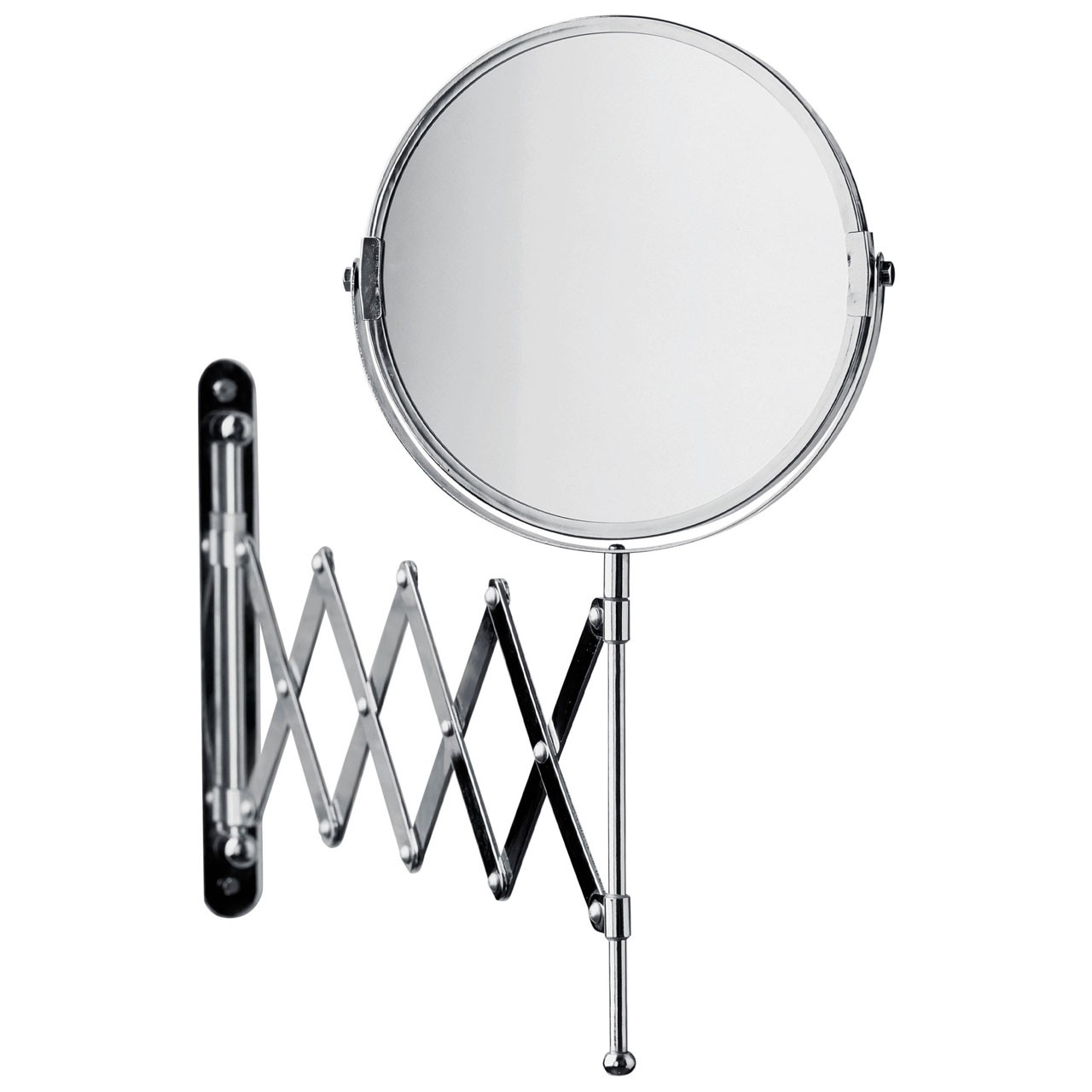 Prime Furnishing Wall Mounted Mirror With Folding Arm, Chrome