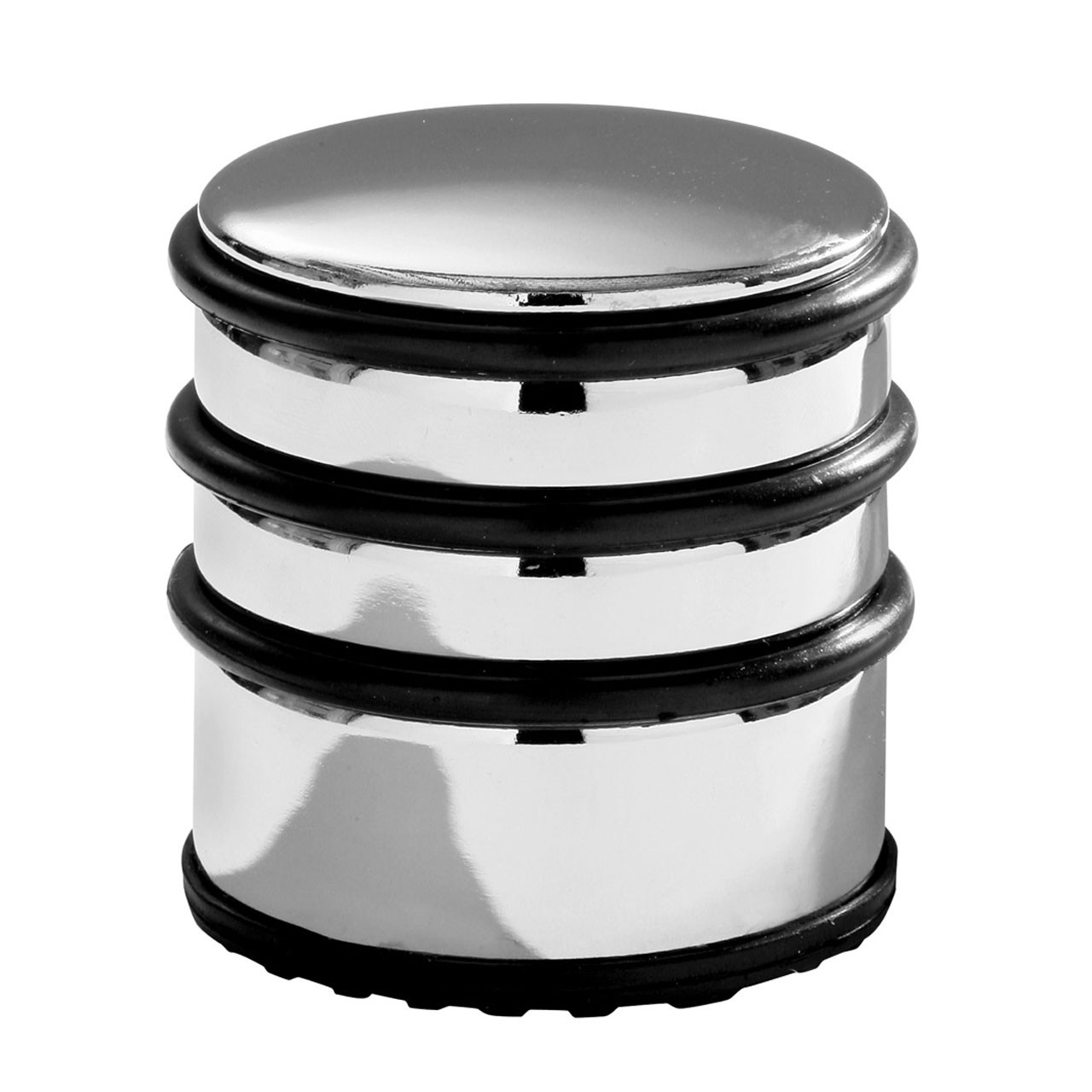 Prime Furnishing Chrome Door Stop with Black Rubber Rings