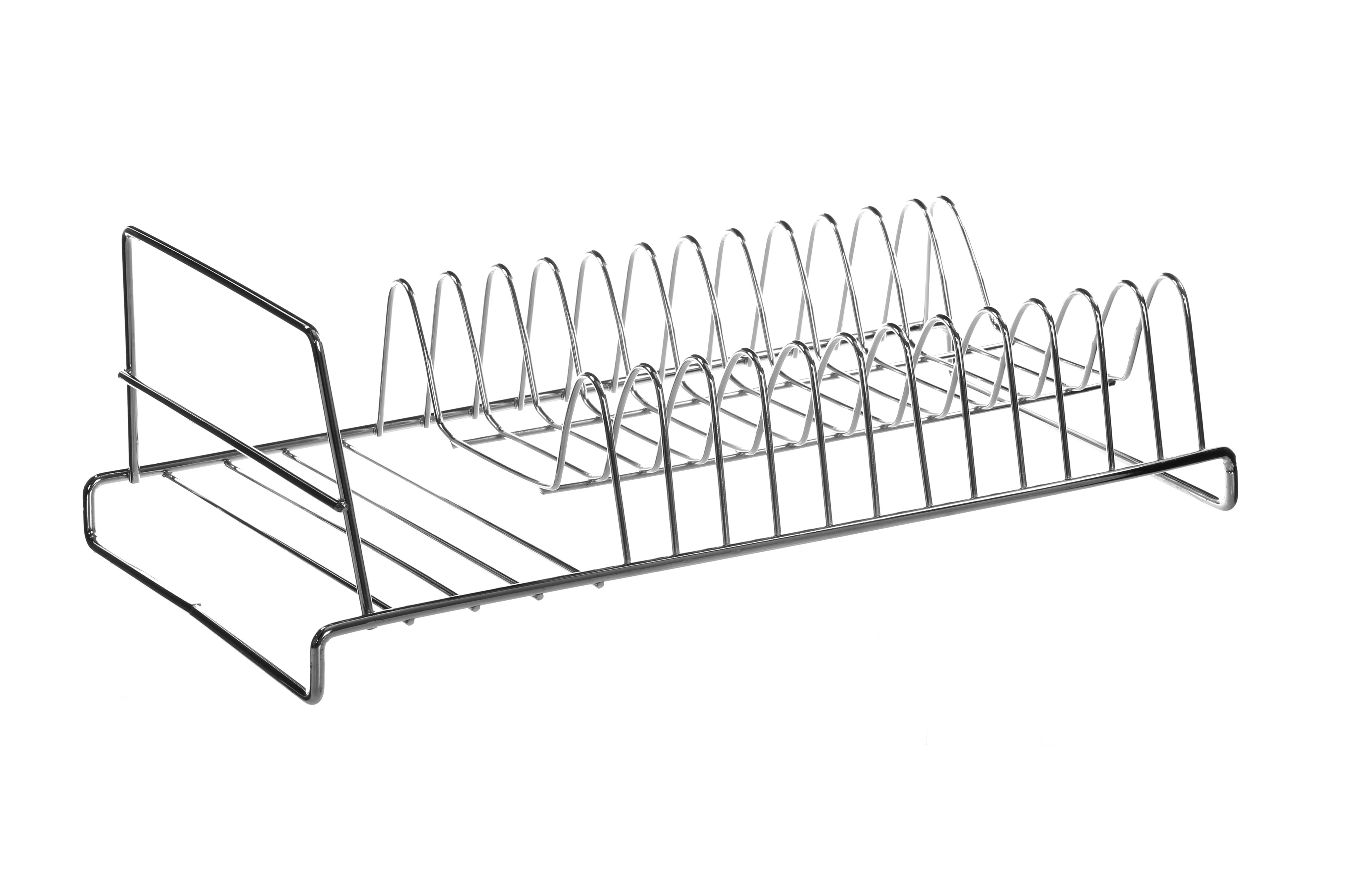 12 Plate Dish Drainer - Chrome
