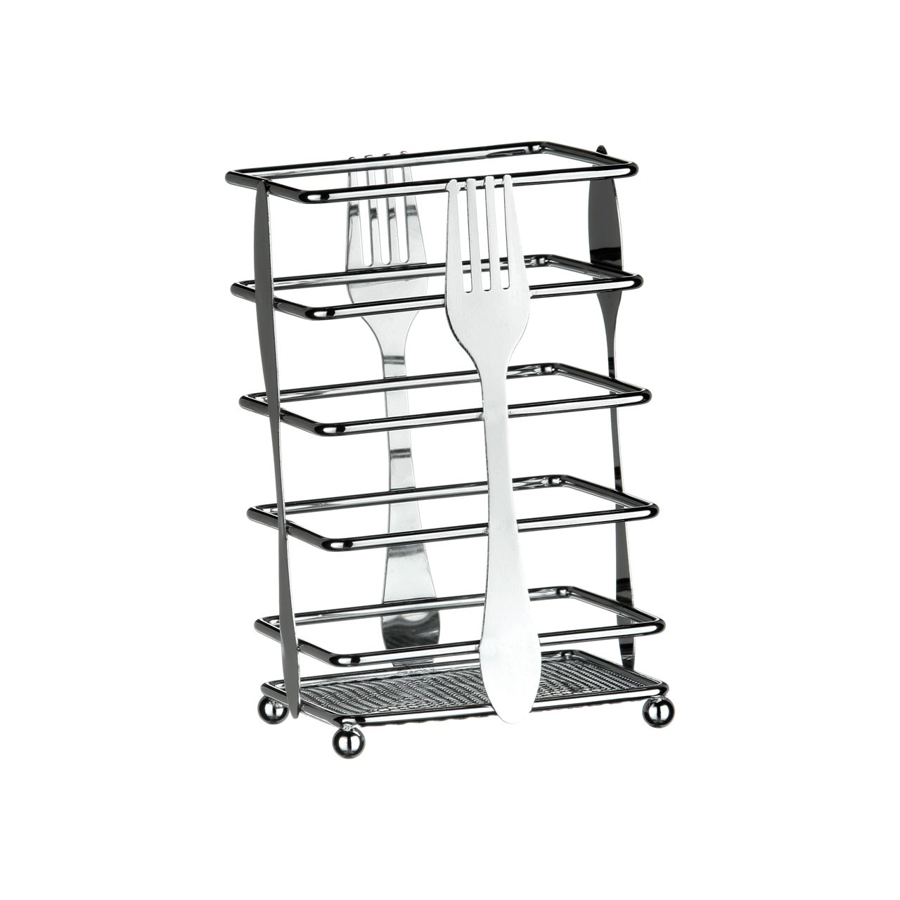 Cutlery Design Cutlery Caddy - Chrome