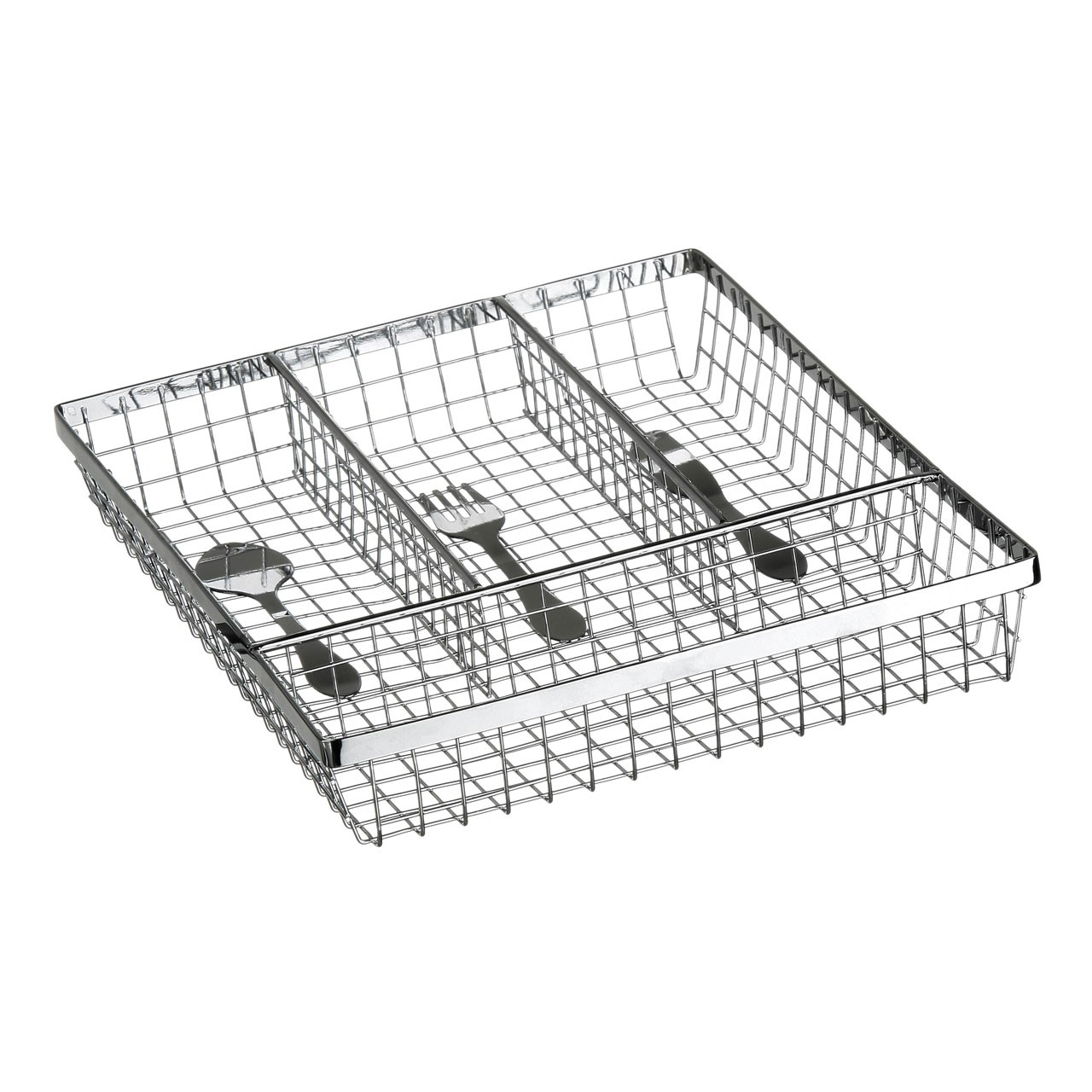 Premier Housewares Cutlery Design Cutlery Tray - Chrome