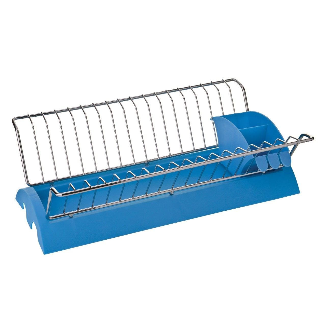 Dish Drainer with Removable Cutlery Caddy - Blue