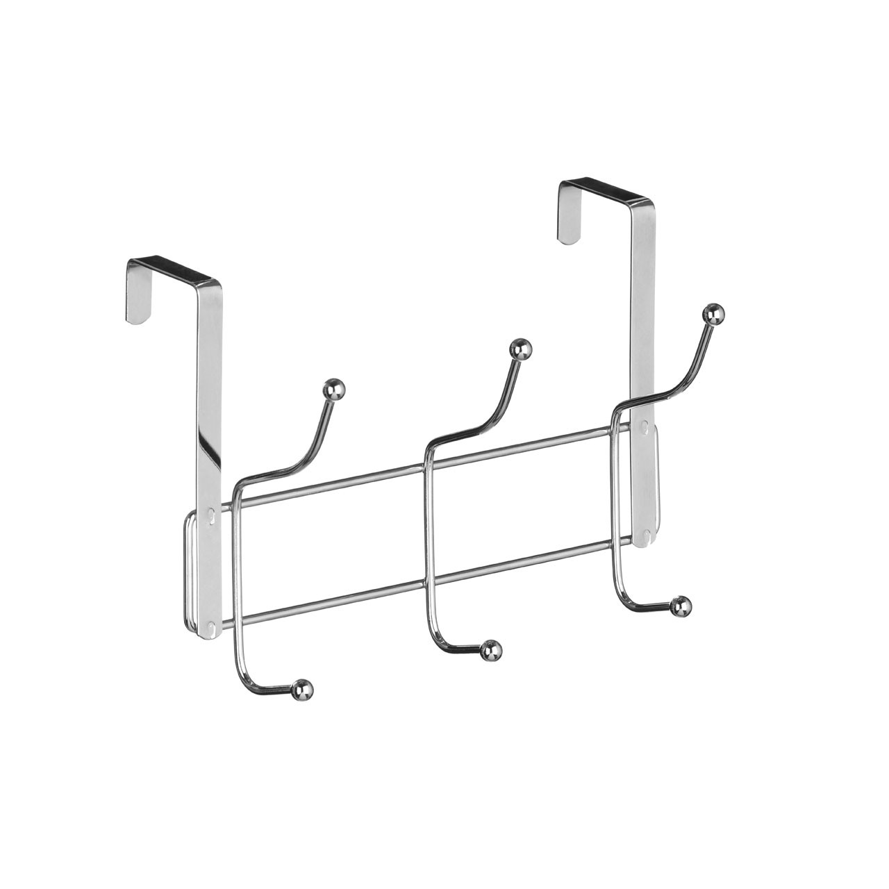 6 Hook Over Door Hanger - Chrome